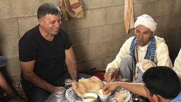 Avi Gabay en Demnate, pueblo desde el que emigraron sus padres a Israel