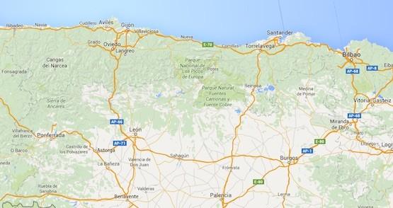 España: territorios limítrofes entre Galicia, Castilla y León y Euskadi