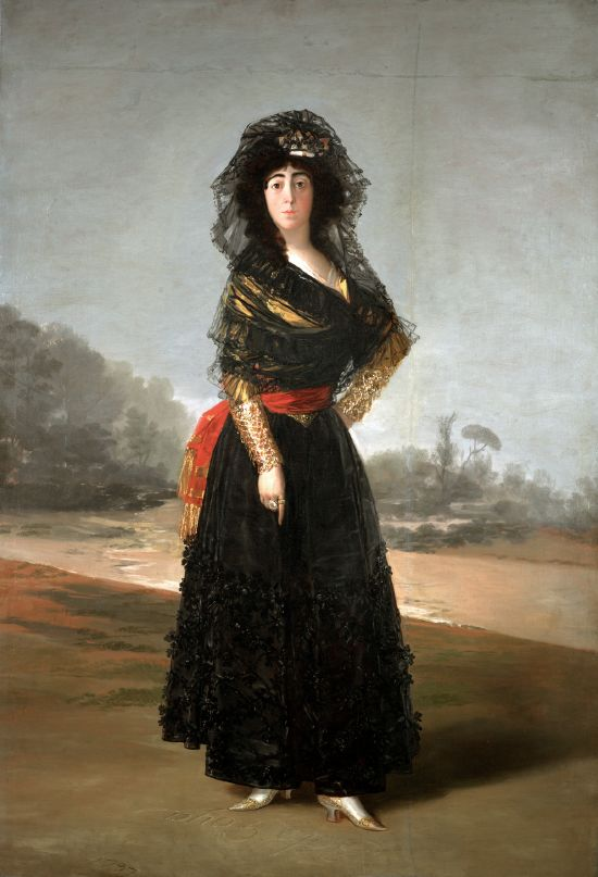 Goya. La Duquesa de Alba. The Hispanic Society de Nueva York.
