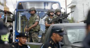Guatemala, policía y ejército trasmiten Inseguridad. Foto: Prensa Libre