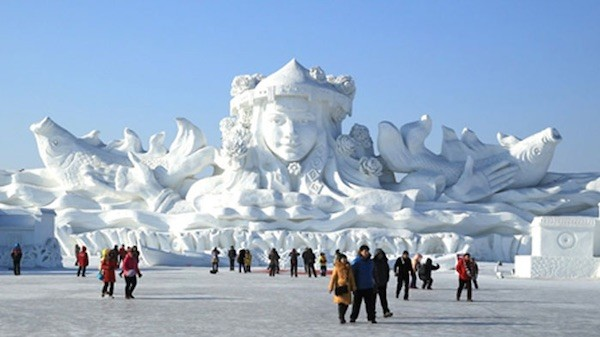 Harbin (China): esculturas de hielo