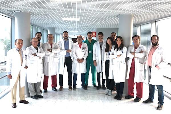 Profesionales del hospital madrileño de La Paz que participan en  el estudio RESCUE-ASDH