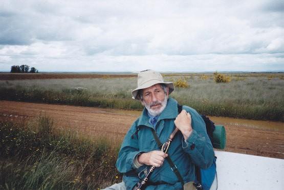 José Luis López de la Calle en el Camino de Santiago