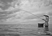 Javier Sánchez-Monge: campesina vietnamita pesca la cena de esa noche