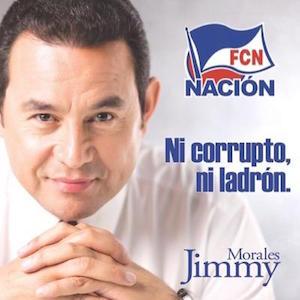 Cartel electoral de Jimmy Morales