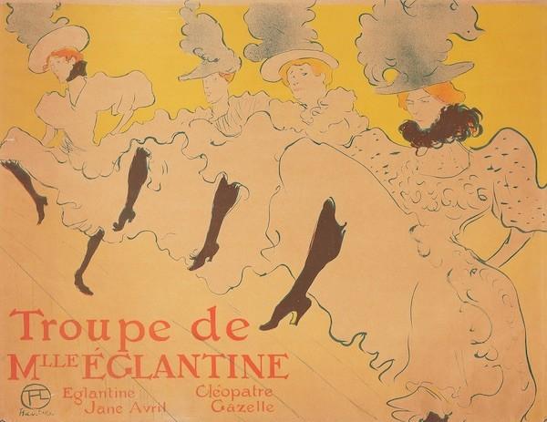 Lautrec: La compañía de mademoiselle Eglantine 1896