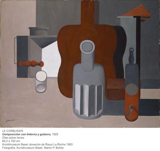 Le Corbusier (Charles Edouard Jeanneret) (1887–1965); Composition à la lanterne et à la guitare; 1920