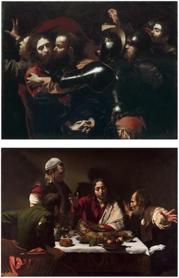 """Luces y sombras: """"Prendimiento de Cristo"""" y """"Cena en Emaús"""" de Caravaggio"""
