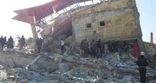 MSF aporta esta fotografía del hospital bombardeado en Siria.