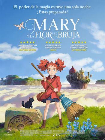 Mary y la flor de la bruja cartel