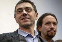 Juan Carlos Monedero con Pablo Iglesias