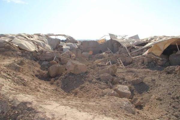 Palacio de Mari destruido