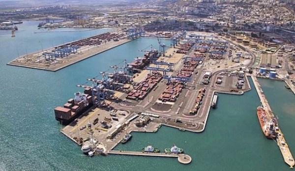 Puerto de Haifa Israel