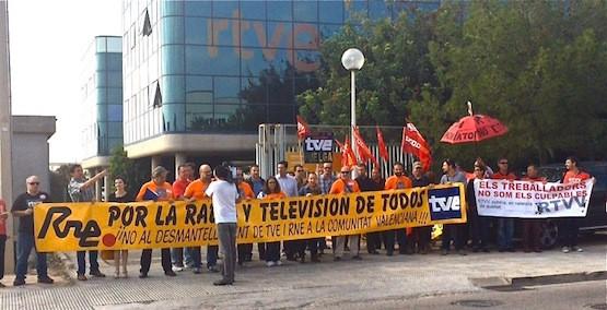 RTVE-RTVV-protestas