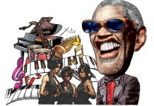 Ray Charles por Xulio Formoso