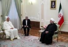 El presidente iraní, Rohani, recibe al embajador marroquí, Hassan Hami, en 2016
