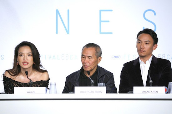 Shu Qi, Hou Hsiao Hsien, Chang Chen - Conferencia de prensa - Nie Yinniang (The Assassin) © FDC / Mathilde Petit