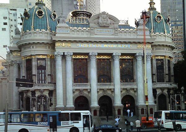 Teatro Municipal de Río de janeiro, réplica de la Opera de París