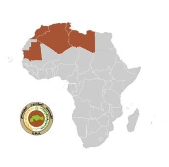 UMA: Argelia, Libia, Mauritania, Marruecos, Túnez