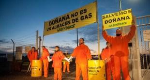Doñana: Greenpeace paraliza las obras de Gas Natural Fenosa