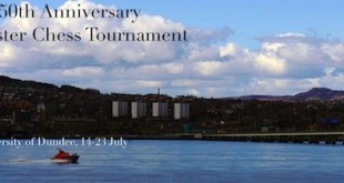 Cartel del 150 torneo Dundee Granmaster Chess