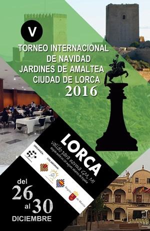 Cartel del Torneo de Ajedrez de Lorca 2016