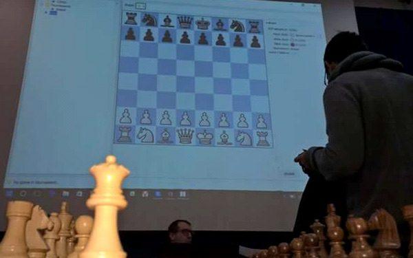 Apertura de un torneo de ajedrez en Italia