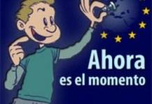 Cartel en España de apoyo a la moción de la Unión Europea sobre el ajedrez.