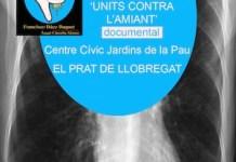 Cartel reivindicativo de trabajadores afectados por el amianto