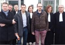 Ricardo Gutiérrez: Edouard Perrin junto a los filtradores y a los abogados hoy en Luxemburgo