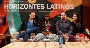 Arango con los protagonistas de X500 en Horizontes Latinos de Donosa 2016