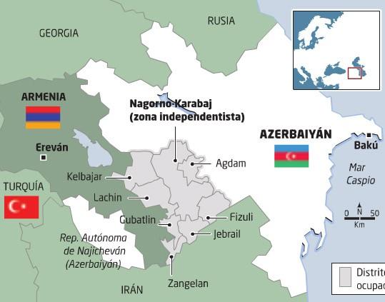 Armenia, zona de Nagorno Karabaj