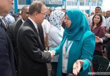 Ban Ki-moon en la Franja de Gaza, junio de 2016.