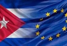 Banderas de la UE y Cuba