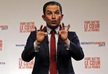 Benoit Hamon en las primarias socialistas de 2017