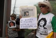 Protestas por la impunidad en el asesinato de Berta Cáceres