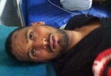 Brahim Saika en la sala de urgencias del hospital
