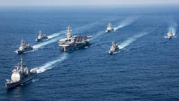 Buques de guerra de EE. UU. desplazados a la Península de Corea