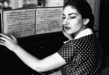 María Callas ante una partitura