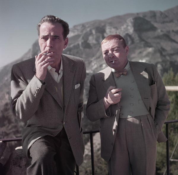 Capa: Humphrey Bogart y Peter Lorre en el rodaje de Beat the Devil