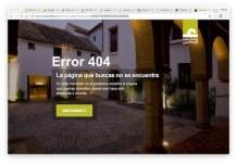 Sitio web de Casa Árabe en el que indica que la página de la convocatoria sobre palestina ha sido borrada.