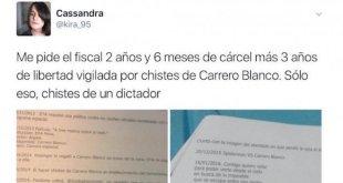 Cassandra Vera explica su situación en un tuit