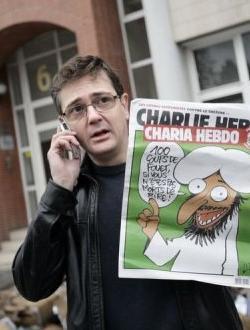 El director de Charlie Hebdo en 2012 tras el atentado