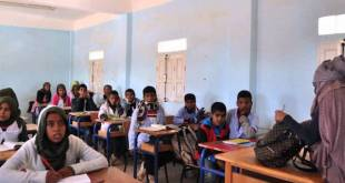 Clases en los campamentos de refugiados de Tinduf.
