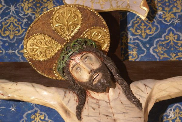 Cristo de las Angustias del Real Monasterio de Santo Tomás en Ávila, detalle.