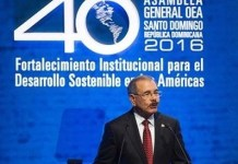 Danilo Medina en la apertura de la 46 Asamblea General de la OEA