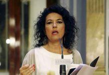 Maribel Mora, portavoz de Unidos Podemos-En Comú Podem-En Marea en la Comisión Mixta de Relaciones con el Defensor del Pueblo