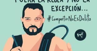 Cartel de apoyo a Diego Gómez Hoyos de la Fundación Karisma