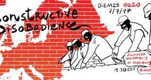 """DiEM25 llama a la """"Desobediencia Constructiva"""" contra el G20 para complementar la desobediencia pacífica con contrapropuestas"""