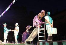Escena de Ding Dong, comedia de Georges Feydeau, dirigida por Gabriel Olivares